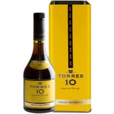 Бренди Torres 10 Gran Reserva, gift box, 0.7 л